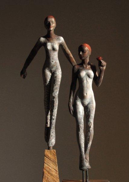 Flieg, Blüte, Bronze, Pigment, ca. 40 cm